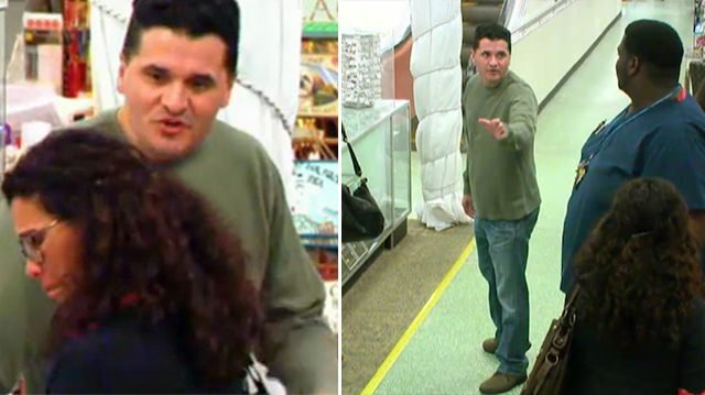 Man abuses, threatens to hit wife at store—seeing the 'ugly drama' a 6ft-6in tall man steps in